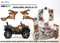 Наклейка Hohloma skulls-01