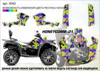 Наклейка Honeycomb-01