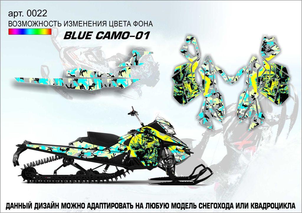 Наклейка Blue camo-01
