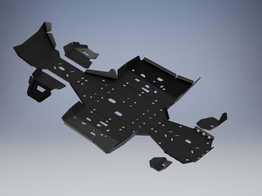 Пластиковая защита днища для CFMOTO X8 H.O. EPS и X10 EPS